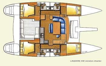 Lagoon Layout on Lagoon 440 Catamaran Layout
